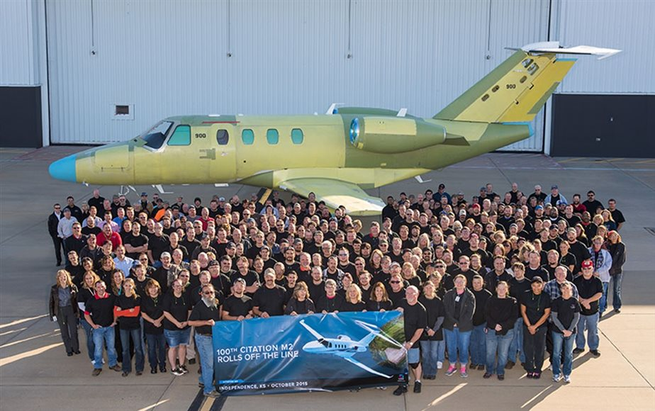 Cessna prepares to deliver the 100th Cessna Citation M2 only two years after certification