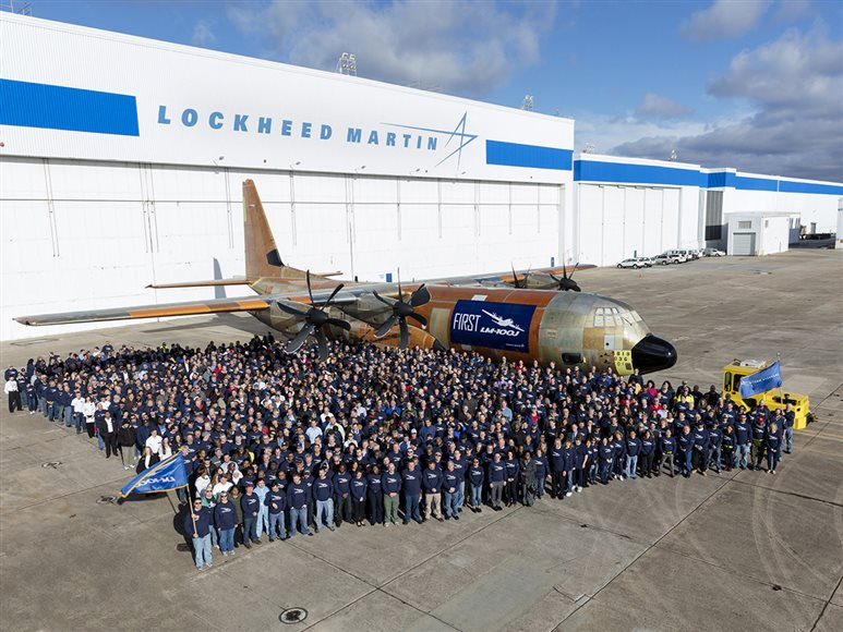 Lockheed Martin Rolls Out First LM 100J Super Hercules Commercial Freighter
