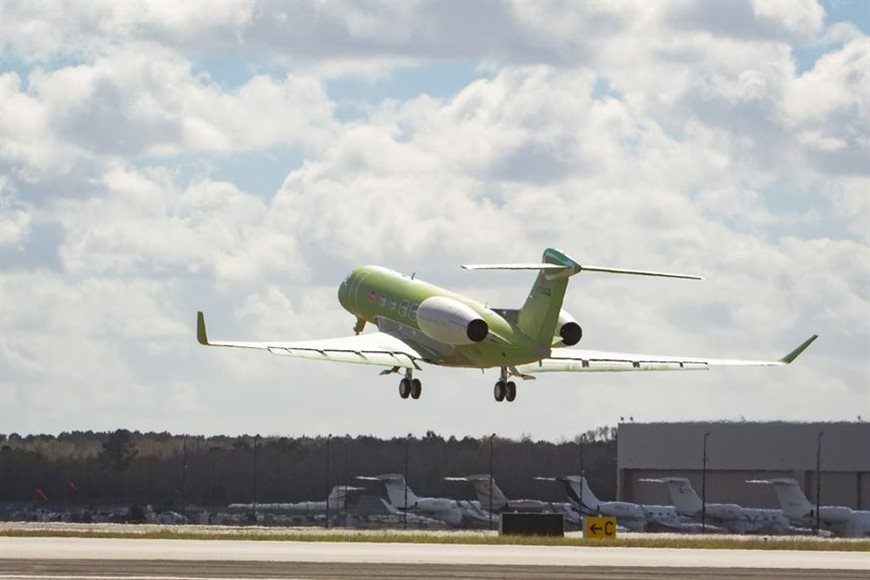 GULFSTREAM FLIES SECOND G600 TEST AIRCRAFT