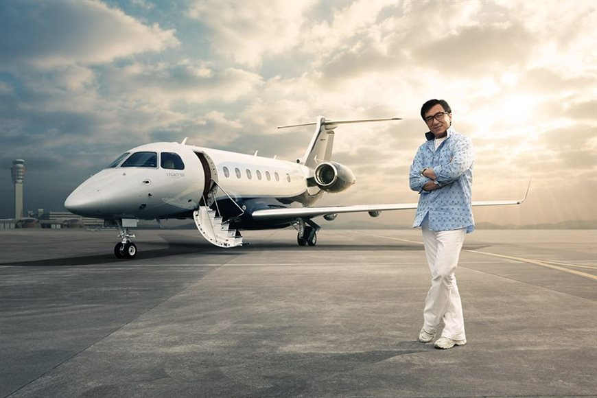 Embraer delivers the first Legacy 500 to China's launch customer Jackie Chan